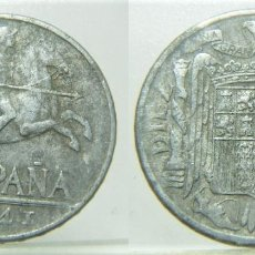Moedas com erros: MONEDA DE 10 CENTIMOS. 1941. ESPAÑA. ERROR: PALABRA PLUS CON V (PLVS). Lote 272094863