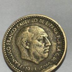 Monedas con errores: * ERROR * 1 PESETA 1953*62 CUÑO DESCANTILLADO. Lote 274020828