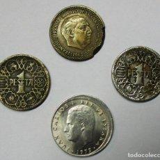 Monedas con errores: ESTADO ESPAÑOL Y JUAN CARLOS I. CONJUNTO DE 4 MONEDAS CON DIVERSOS ERRORES. LOTE-3847. Lote 274240653