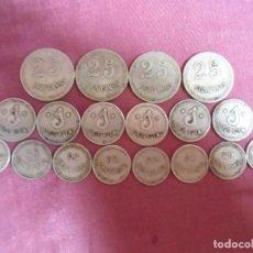 Monedas con errores: LOTE DE 18 MONEDAS-CHAPAS,COOPERATIVAS,SINDICATOS,CASINO? A CATALOGAR.. Lote 278174243