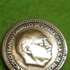 Monedas con errores: ANTIGUA MONEDA DE UNA PESETA DE 1947 ESTRELLA 56. . LAS MÁS DIFÍCILES DE ENCONTRAR... Lote 278963513