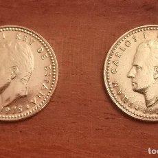 Monedas con errores: DOS MONEDAS 1 PESETA JUAN CARLOS I 1975*78 VARIANTE Ñ CHILENA SIN CIRCULAR. Lote 288196973