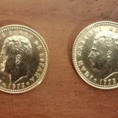 Monedas con errores: DOS MONEDAS 1 PESETA JUAN CARLOS I 1975*78 VARIANTE Ñ CHILENA SIN CIRCULAR. Lote 288197218