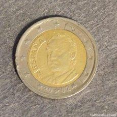 Monedas con errores: MONEDA 2 EUROS 2002 DESCENTRADA Y EXCESO DE METAL. Lote 293447108