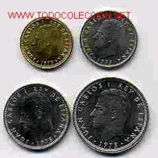 Monedas de España: COLECCION MONEDAS AÑO 1975-78 COMPLETA , PESETAS , SIN CIRCULAR.. Lote 34128759