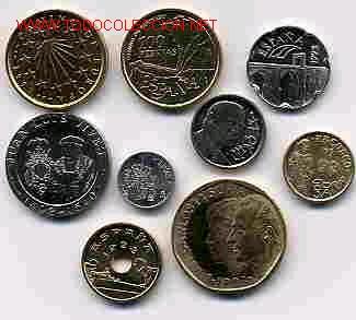 COLECCION PESETAS AÑO 1993 M COMPLETA SIN CIRCULAR. (Numismática - España Modernas y Contemporáneas - Colecciones y Lotes de conjunto)