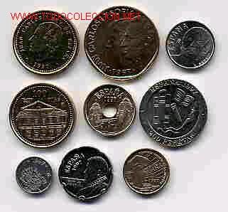 COLECCION PESETAS AÑO 1997 M COMPLETA SIN CIRCULAR. (Numismática - España Modernas y Contemporáneas - Colecciones y Lotes de conjunto)