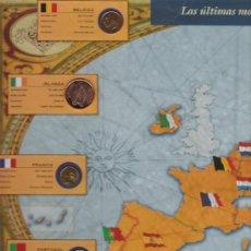 Monedas de España: ALBUM MONTADO CON REPRESENTACION DE LAS ULTIMAS MONEDAS SOBERANAS DE EUROPA . Lote 9825018