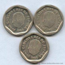 Monedas de España: COLECCION COMPLETA DE LAS MONEDAS DE 200 PTAS DE MODULO PEQUEÑO AÑO 1986, 1987, 1988. Lote 28979343