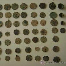 Coins of Spain - LOTE DE CINCUENTA Y TRES MONEDAS,MEDALLAS Y PIEZAS DE PONDERAL - 25871577