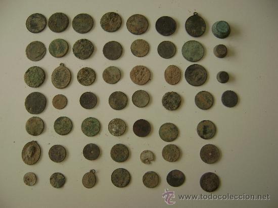 Monedas de España: LOTE DE CINCUENTA Y TRES MONEDAS,MEDALLAS Y PIEZAS DE PONDERAL - Foto 2 - 25871577