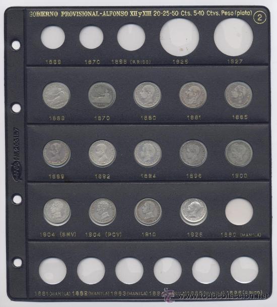 LOTE DE 50 CENTIMOS-GOB.PROVISIONAL-ALFONSO XII Y ALFONSO XIII (Numismática - España Modernas y Contemporáneas - Colecciones y Lotes de conjunto)