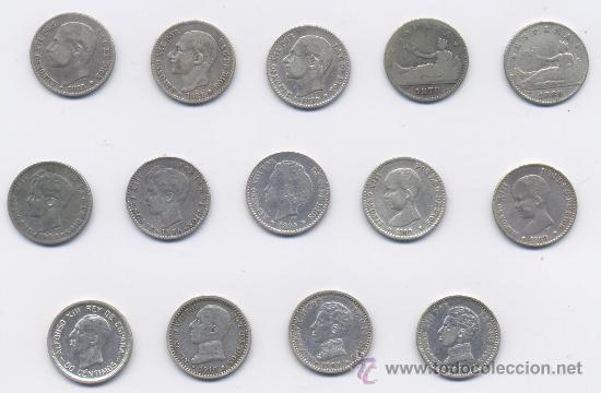 Monedas de España: LOTE DE 50 CENTIMOS-GOB.PROVISIONAL-ALFONSO XII Y ALFONSO XIII - Foto 3 - 38222402