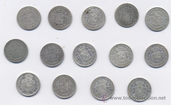 Monedas de España: LOTE DE 50 CENTIMOS-GOB.PROVISIONAL-ALFONSO XII Y ALFONSO XIII - Foto 4 - 38222402