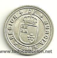COLECCION DE 28 MONEDAS DE PLATA. MUNICIPIOS DE LA REGIÓN DE MURCIA (Numismática - España Modernas y Contemporáneas - Colecciones y Lotes de conjunto)