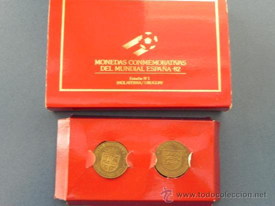 LOTE 2 MONEDAS DEL MUNDIAL ESPAÑA´82 (REF 90016) (Numismática - España Modernas y Contemporáneas - Colecciones y Lotes de conjunto)