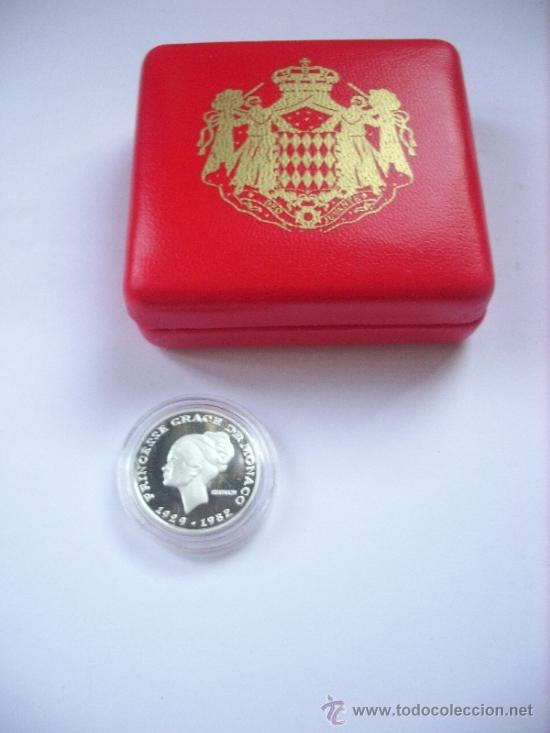 Monedas de España: MONEDA CONMEMORATIVA GRACE KELLY 1982 PLATA SC - Foto 2 - 33180928
