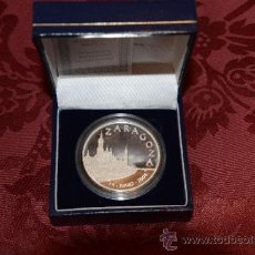 Monedas de España: MONEDA ACUÑADA PARA LA EXPO DE ZARAGOZA PLATA 999/000. Lote 33911625