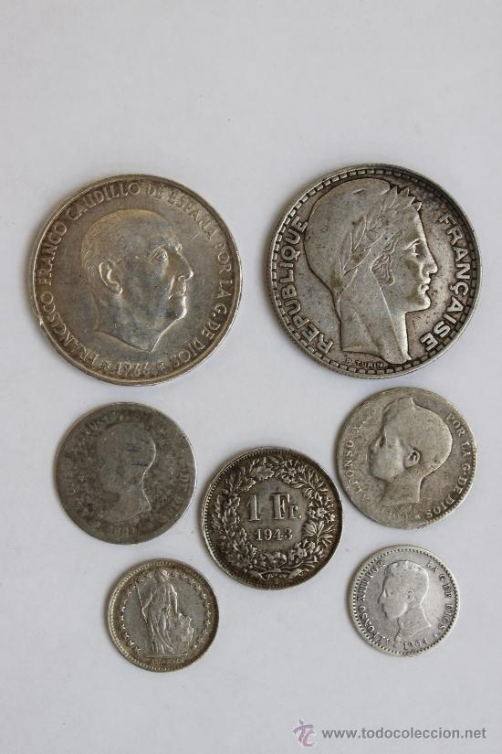 LOTE MONEDAS DE PLATA ( MONEDA PLATA ) (Numismática - España Modernas y Contemporáneas - Colecciones y Lotes de conjunto)