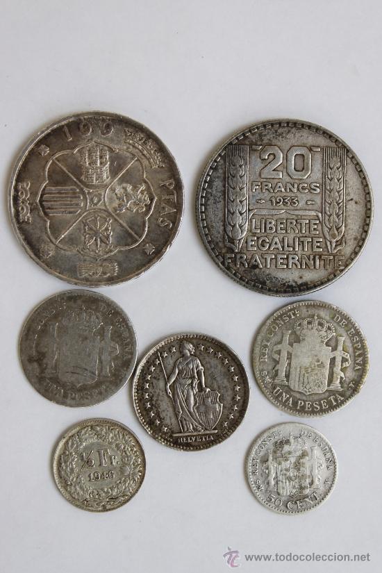 Monedas de España: LOTE MONEDAS DE PLATA ( MONEDA PLATA ) - Foto 2 - 34355707