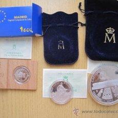 Monedas de España: SERIE COMPLETA DE ECUS DE PLATA 1, 5 Y 25 ECUS DE 1992 (VER DATOS DE LA DE 25 ECUS) ESPECTACULAR. Lote 34671413