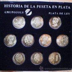 Monedas de España: HISTORIA DE LA PESETAS, PLATA .925 MLS (38,83 GR), GRUPOJOLY. Lote 34991042
