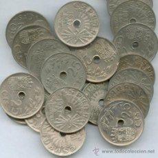 Monedas de España: LIQUIDACIÓN LOTE DE 1OO MONEDAS DE 25 CENTIMOS AÑO 1937. (EMITIDAS POR FRANCISCO FRANCO).. Lote 35355999