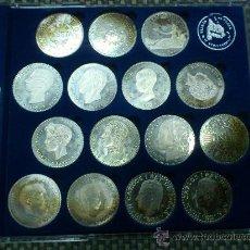 Coins of Spain - COLECCION 15 MONEDAS HISTORIA DE LA PESETA EN PLATA DE LEY - 37257631