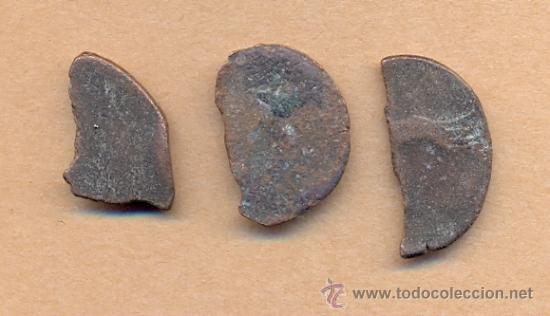 Monedas de España: MONEDA 611 TRES MONEDAS ROMANAS CORTADAS ROMA IMPERIO TRES TROZOS DE HISTORIA PARA CLASIFICAR to - Foto 2 - 37282922
