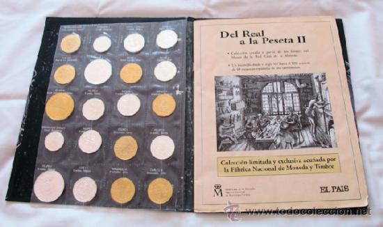 DEL REAL A LA PESETA 2 ALBUM COMPLETO 40 MONEDAS FNMT (Numismática - España Modernas y Contemporáneas - Colecciones y Lotes de conjunto)