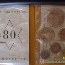 Monedas de España: COLECCION DE MONEDAS MUNDIAL DE FUTBOL ESPAÑA 82 SERIE NUMISMATICA. Lote 38632638