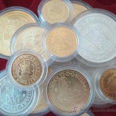 Monedas de España: BONITA COLECCION DE MONEDAS DE PLATA Y PLATA DORADA. Lote 38870329