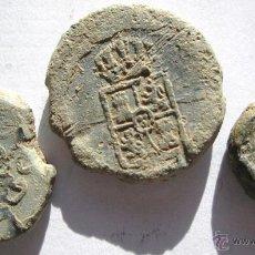 Moedas de Espanha: 3 PLOMOS DEL SIGLO XIX. Lote 61906503