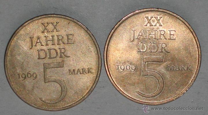 Monedas de España: 2 DE ALEMANIA / DDR - Foto 2 - 39350087