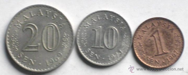 Monedas de España: 3 DE MALAYSIA - Foto 2 - 167102102