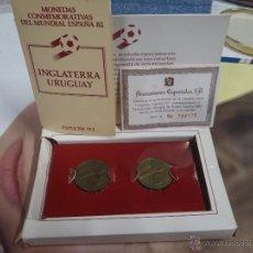 Monedas de España: MONEDAS MUNDIAL 82 ITALIA , ARGENTINA Y INGLATERRA , URUGUAY. Lote 39957837