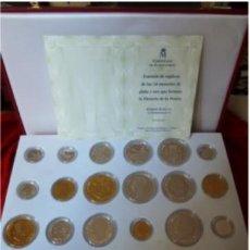 Monedas de España: ESPAÑA COLECCIÓN HISTORIA DE LA PESETA, CONJUNTO MONEDAS DE PLATA Y ORO EMISIÓN F.N.M.T SIN CIRCULAR. Lote 40040528