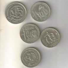 Coins of Spain - LOTE 5 piezas mexicanas, las de la foto. - 40219989