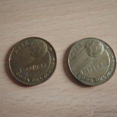 Monedas de España: MONEDAS COPA DEL MUNDO ESPAÑA 82 BRASIL ALEMANIA. Lote 40423853