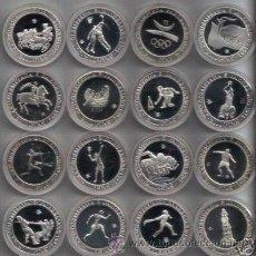Monedas de España: SET 16 X 2000 PESETAS PLATA FDC BARCELONA 1992 CON CAJAS Y CERTIFICADOS FNMT . Lote 42614211