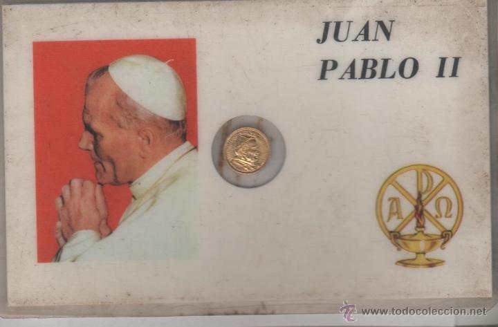 MONEDA PEQUEÑA JUAN PABLO II (Numismática - España Modernas y Contemporáneas - Colecciones y Lotes de conjunto)