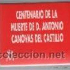 Monedas de España: MONEDA DE 1000 PTAS DE PLATA-AÑO 1997-ANTONIO CANOVAS DEL CASTILLO CON ESTUCHE Y CERTIFICADO. Lote 42996904