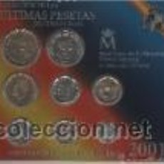 Monedas de España: COLECCION DE ULTIMAS PESETAS DE CURSO LEGAL-AÑO 2001. Lote 42998758
