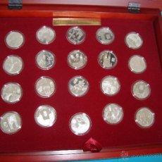 Monedas de España: COLECCION DE 19 MEDALLAS DE PLATA 25 ANV. COMUNIDADES AUTONOMAS Y MONEDA DE 12€ JUANCARLOS I Y SOFIA. Lote 43611192