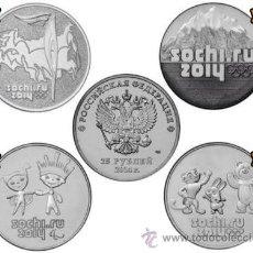 Monedas de España: RUSIA: 25 RUBLOS RUSSIA 2014 SOCHI JUEGOS OLIMPICOS (PACK COMERCIANTE) TOTAL 100 PIEZAS **NUMISBUR**. Lote 44974465