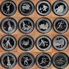 Monedas de España: SET 16 X 2000 PESETAS PLATA BARCELONA 1992 CON SUS CAJAS ORIGINALES DE LA FNMT. Lote 45729924