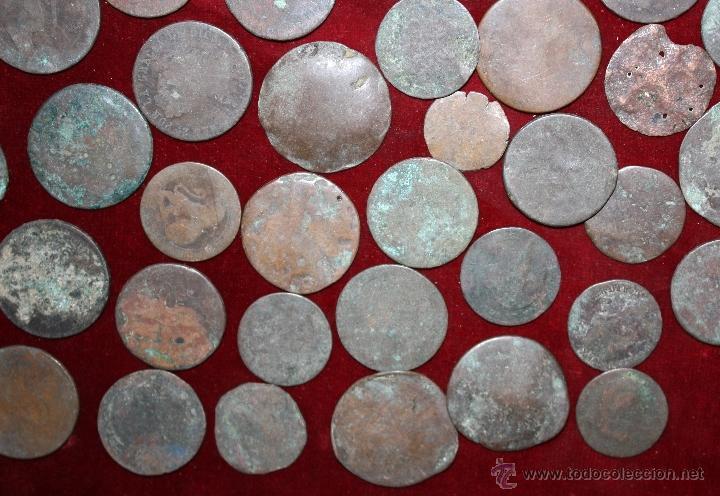 Monedas de España: LOTE DE 170 MONEDAS CHAVOS, VARIEDAD, MIREN FOTOGRAFÍAS.. VARIAS ÉPOCAS... - Foto 2 - 46065984