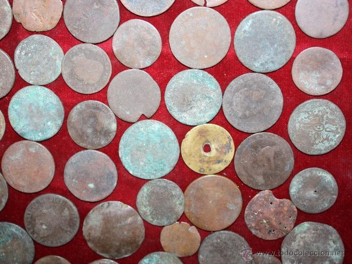 Monedas de España: LOTE DE 170 MONEDAS CHAVOS, VARIEDAD, MIREN FOTOGRAFÍAS.. VARIAS ÉPOCAS... - Foto 3 - 46065984
