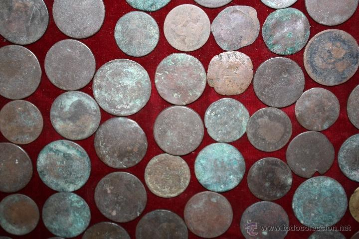 Monedas de España: LOTE DE 170 MONEDAS CHAVOS, VARIEDAD, MIREN FOTOGRAFÍAS.. VARIAS ÉPOCAS... - Foto 4 - 46065984