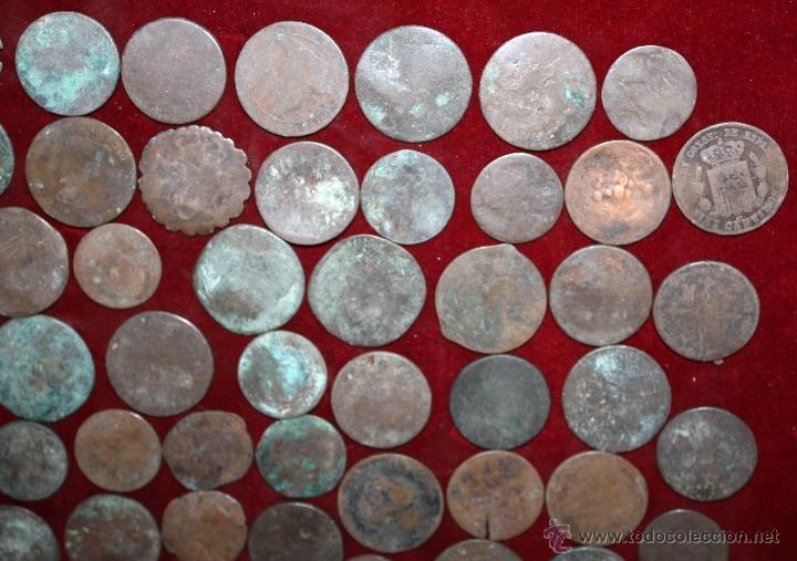 Monedas de España: LOTE DE 170 MONEDAS CHAVOS, VARIEDAD, MIREN FOTOGRAFÍAS.. VARIAS ÉPOCAS... - Foto 5 - 46065984